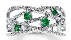 Emerald Diamond Engagement Rings