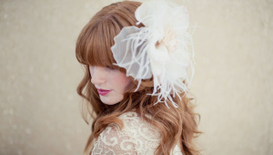 Large Single Bohemial Style Wedding Hairstyles Using Flowers