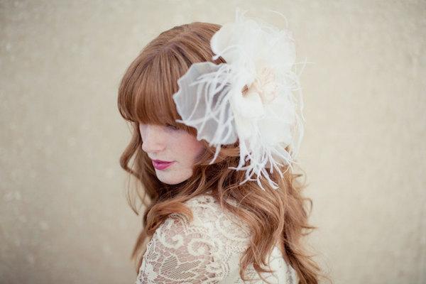 Large Single Bohemial Style Wedding Hairstyles Using Flowers