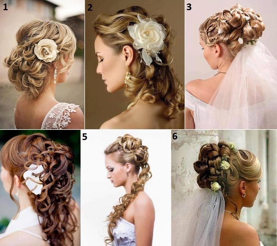 Long Flowers Wedding Hairstyles