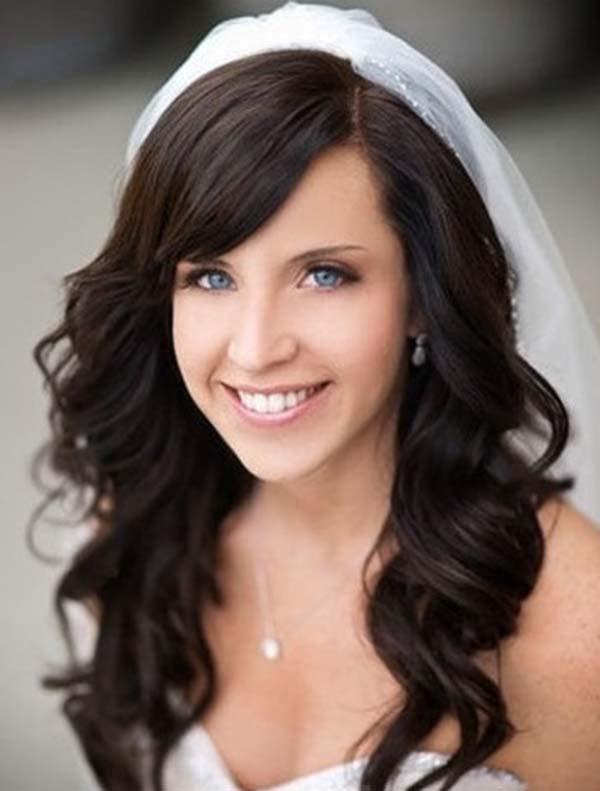 Long Black Wavy Bridal Hair