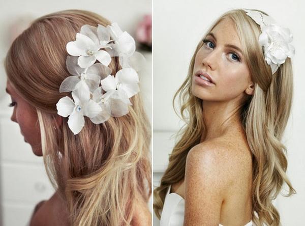 Long Blonde Cute Bridal Hair