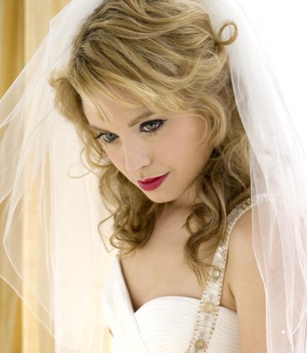Long Blonde Wedding Hairstyle