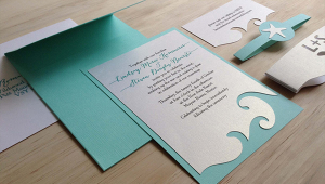 Ocean Wedding Invitation Idea