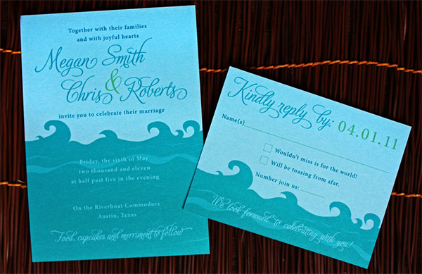 Ocean Wedding Invitation