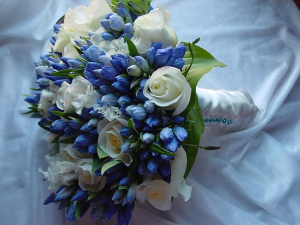 Purple Bridal Flower Design