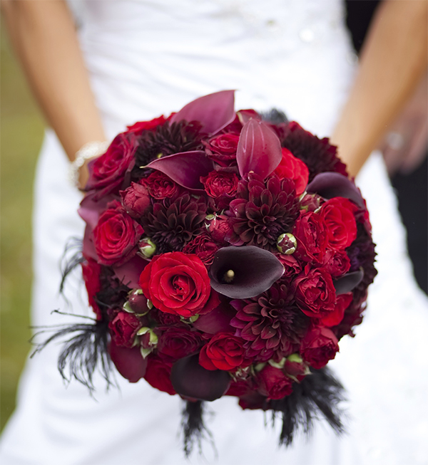 Red Bridal Bouquets