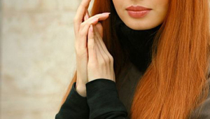 Red Long Straight Hairstyle
