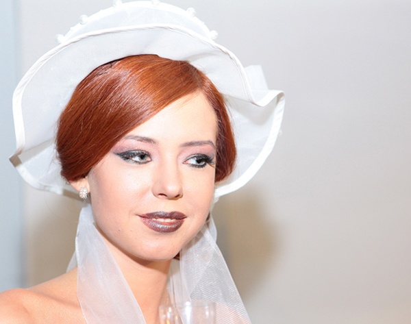 Red Wedding Hairstyle