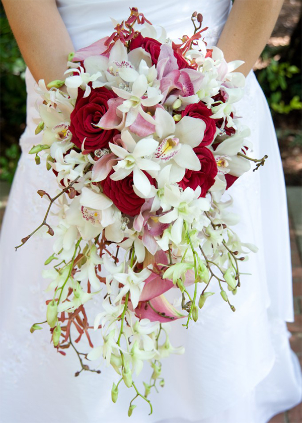 Red White Bridal Flowers
