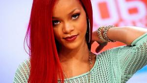 Rihanna Long Red Hair