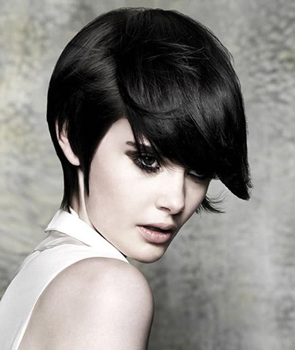 Short Black Stylish Hair