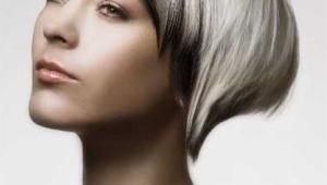 Stylish Short Black And Platinum Hairstyle
