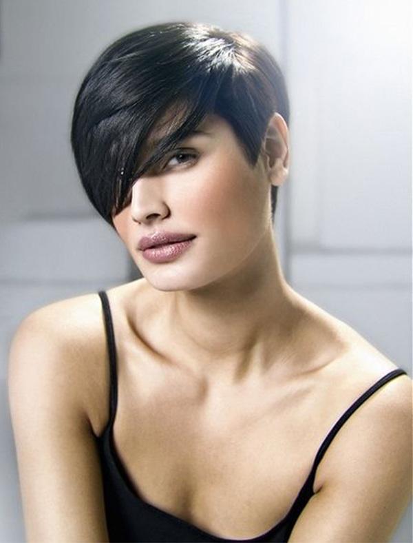 Stylish Short Black Hairstyle