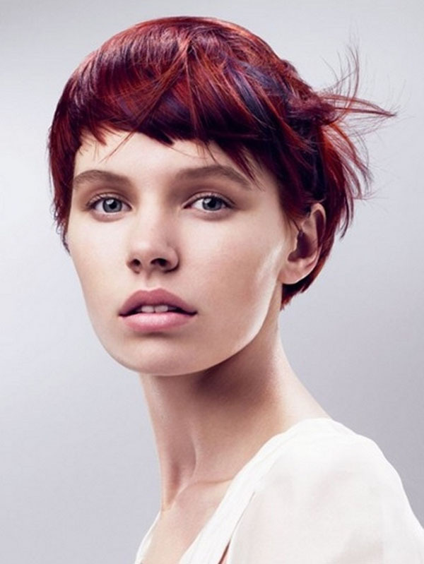 Stylish Short Red Hairstyle