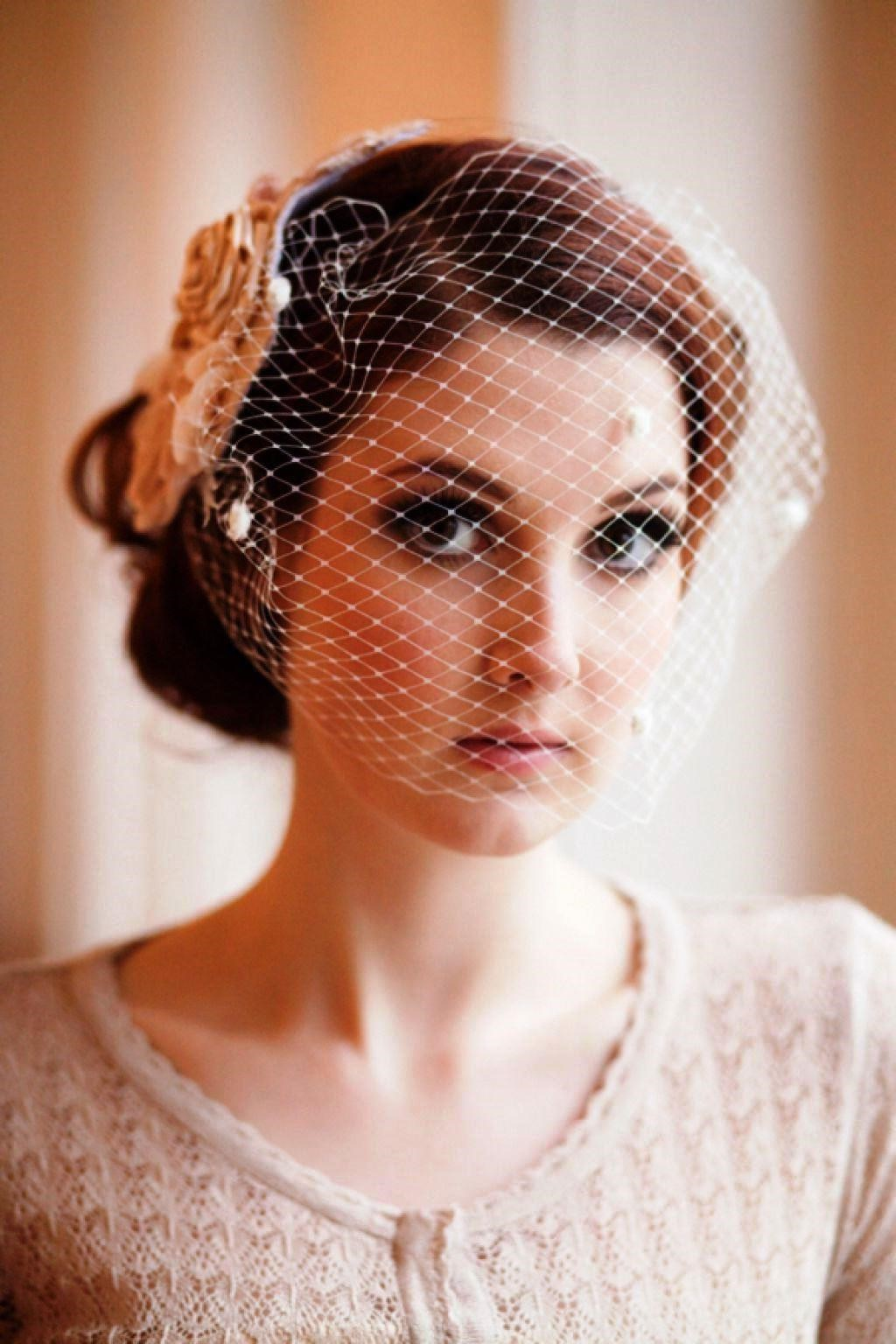 Vintage Wedding Hair With Veil