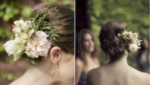 Wedding Hair Up Style With Flowers