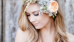 Wedding Hairstyles With Flowers Heavy Flower Front Bangs