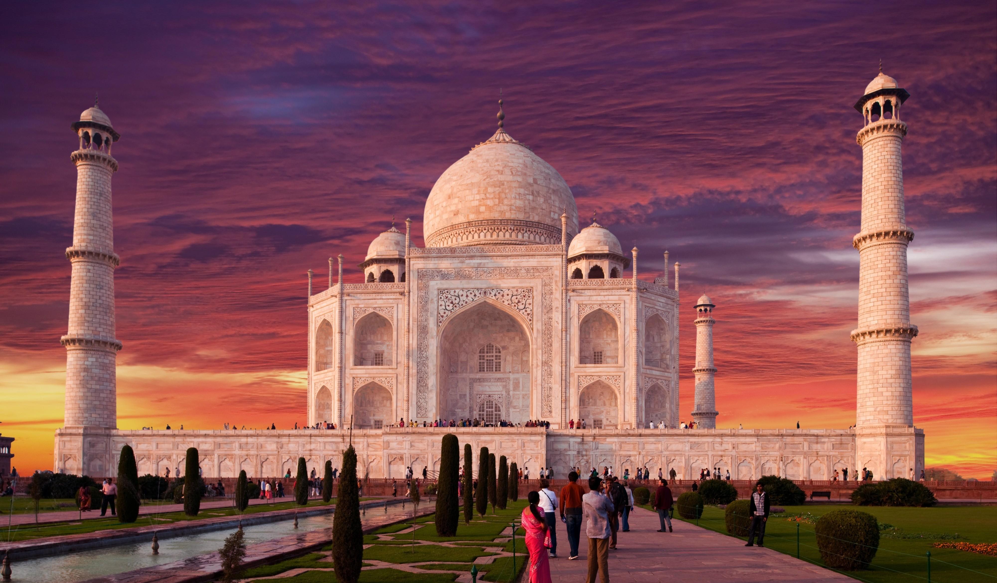 Taj Mahal Indian Monument Ultra HD Desktop Wallpaper