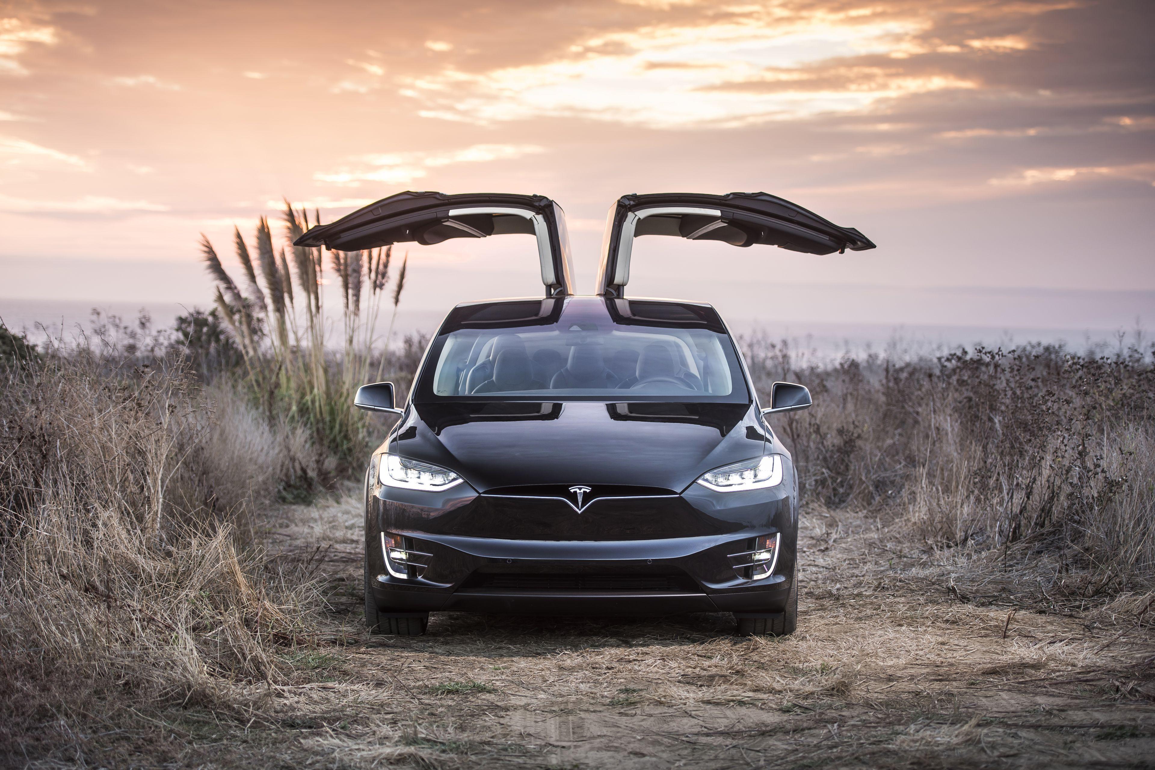 Tesla Model X HD Background