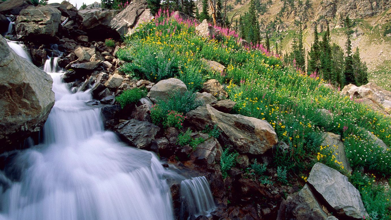 Waterfalls Background