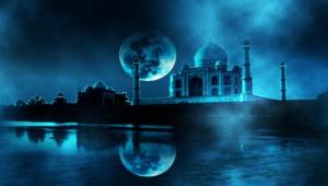 Taj Mahal At Night Wallpaper