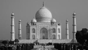 Taj Mahal Black And White