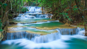 Waterfall River Landscape Nature Waterfalls Wallpaper 3