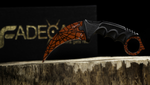 Karambit Crimson Web Wallpaper