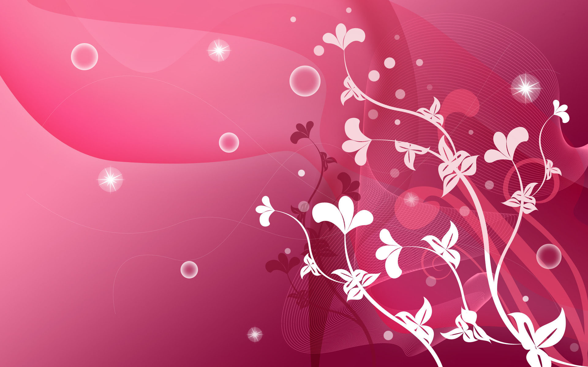 Pink Abstract For Desktop