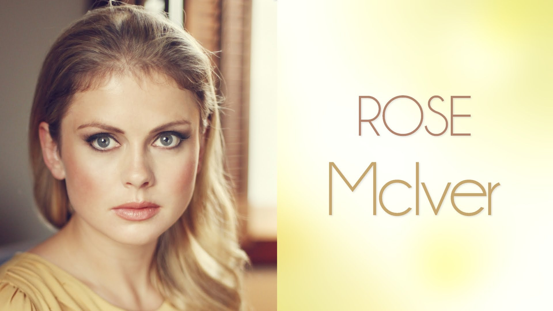Rose Mciver HD Background