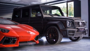 Mercedes Benz Gelandewagen Tuning HD Background