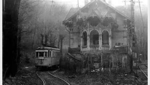 End of tram number 58, station Zugliget, Budapest, 1977.