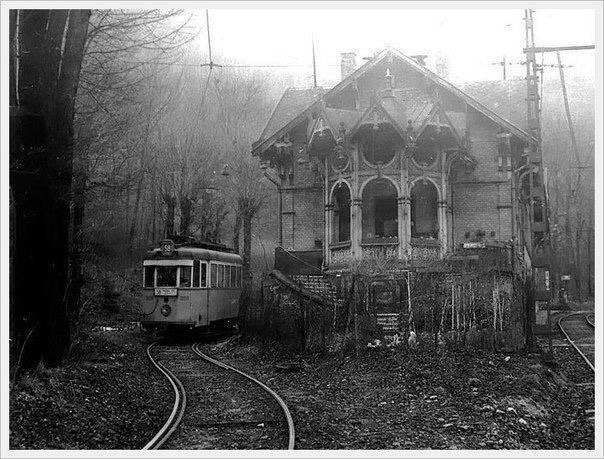 End of tram number 58, station Zugliget, Budapest, 1977.