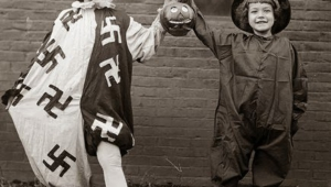 Children take part in dance contest in honor of Halloween. USA. 25 Oct 1918.
