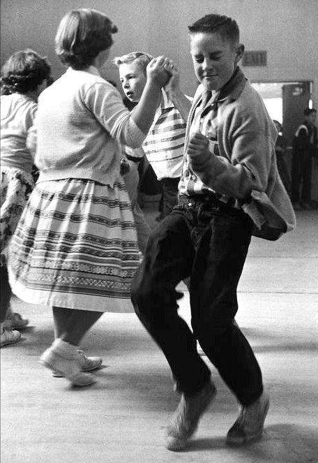 Dancing school. Rent. California State. USA, 1950.