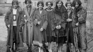 Women's Rifle team Drexel College. Philadelphia State. SSHA.1925 year.