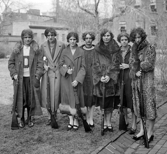 Women's Rifle team Drexel College. Philadelphia State. SSHA.1925 year.