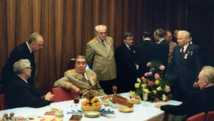 In the common room of the Palace of Congresses. Moscow. RSFSR. THE USSR. 1973.