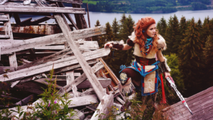Aloy Horizon Zero Dawn Cosplay Widescreen