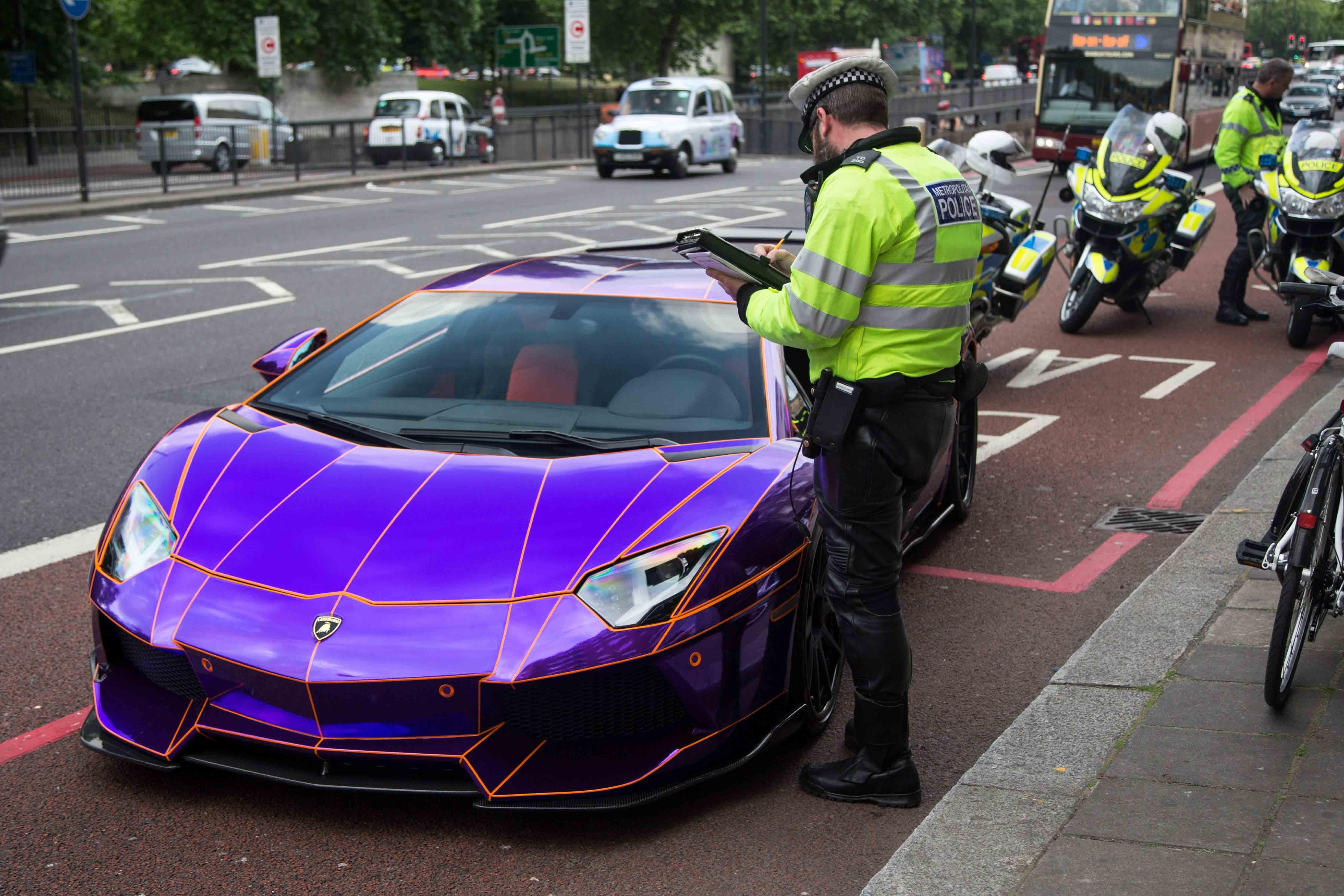 Purple Lamborghini Android Wallpapers