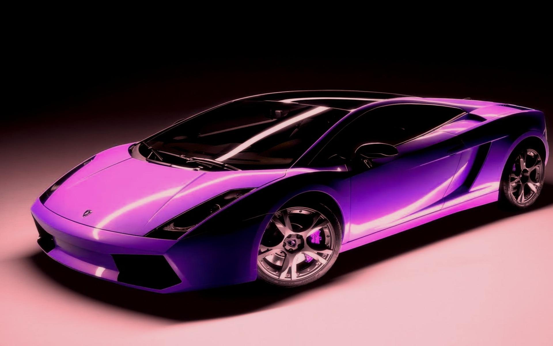 Purple Lamborghini Desktop For Iphone