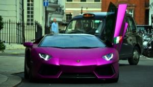 Purple Lamborghini For Smartphone