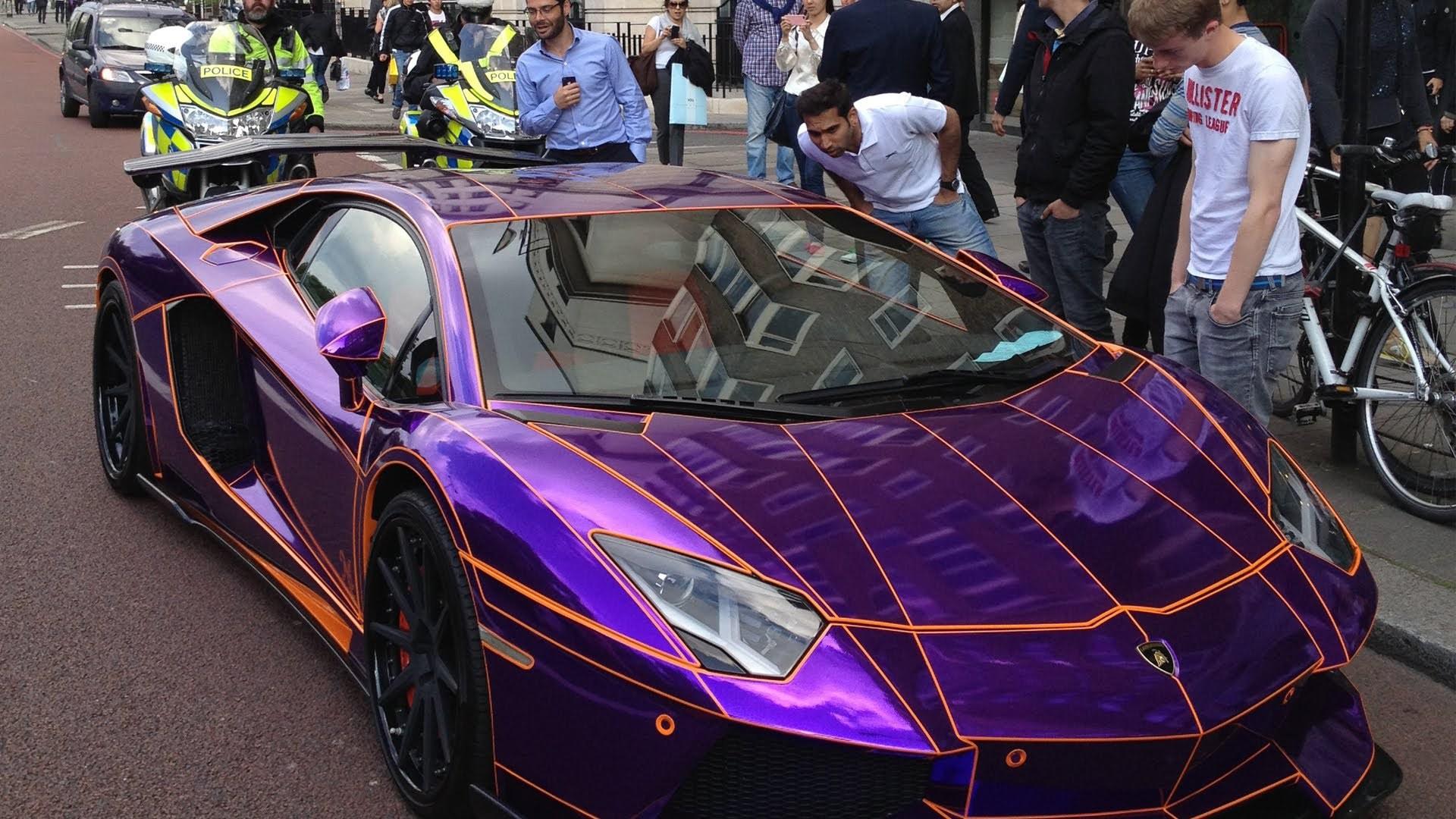 Purple Lamborghini Iphone Background