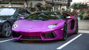 Purple Lamborghini Iphone Hd
