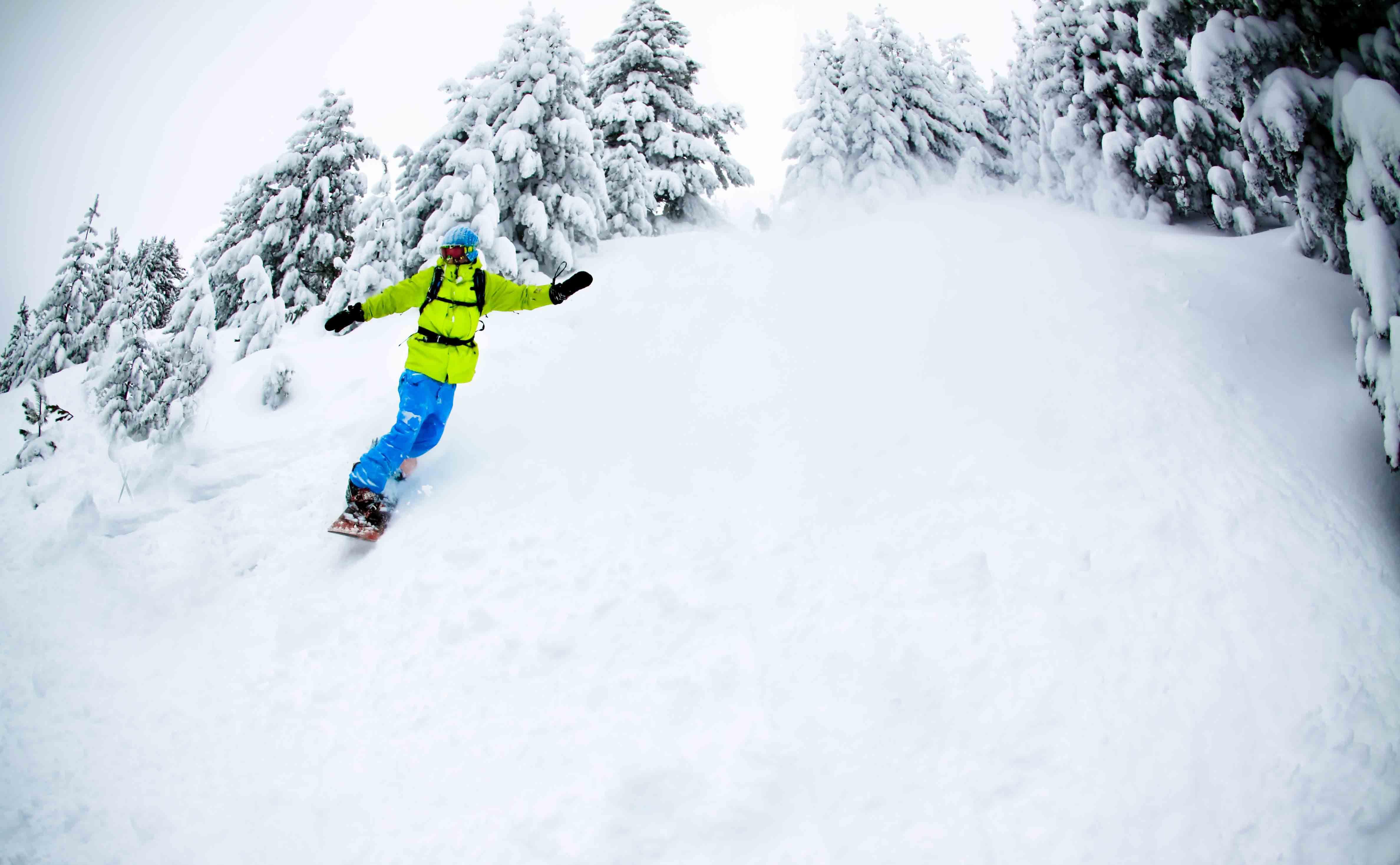 Snowboarding Hd Background