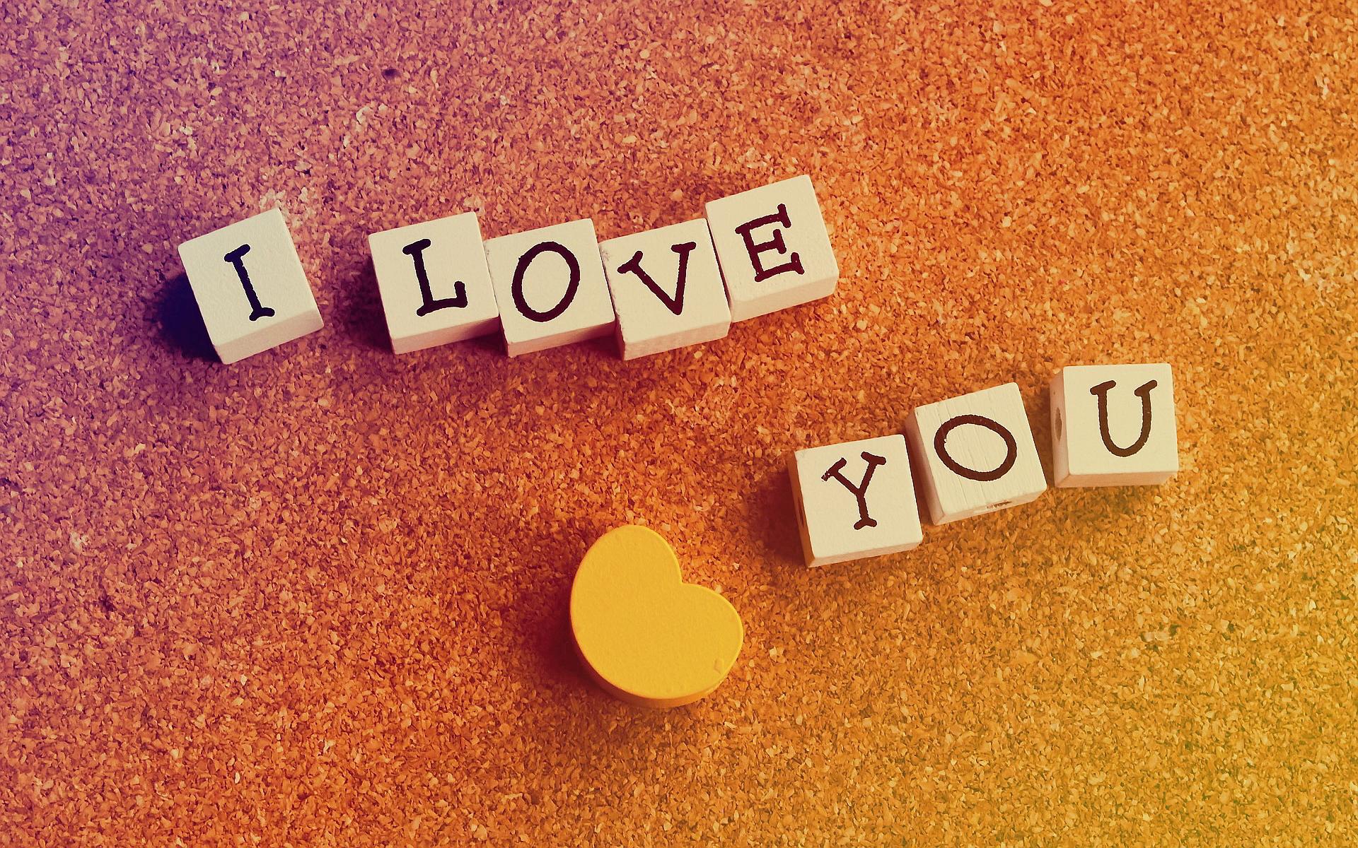 I Love You Hd Background