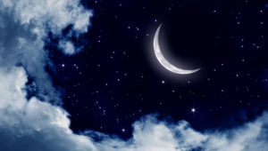 Night Sky Moon Background