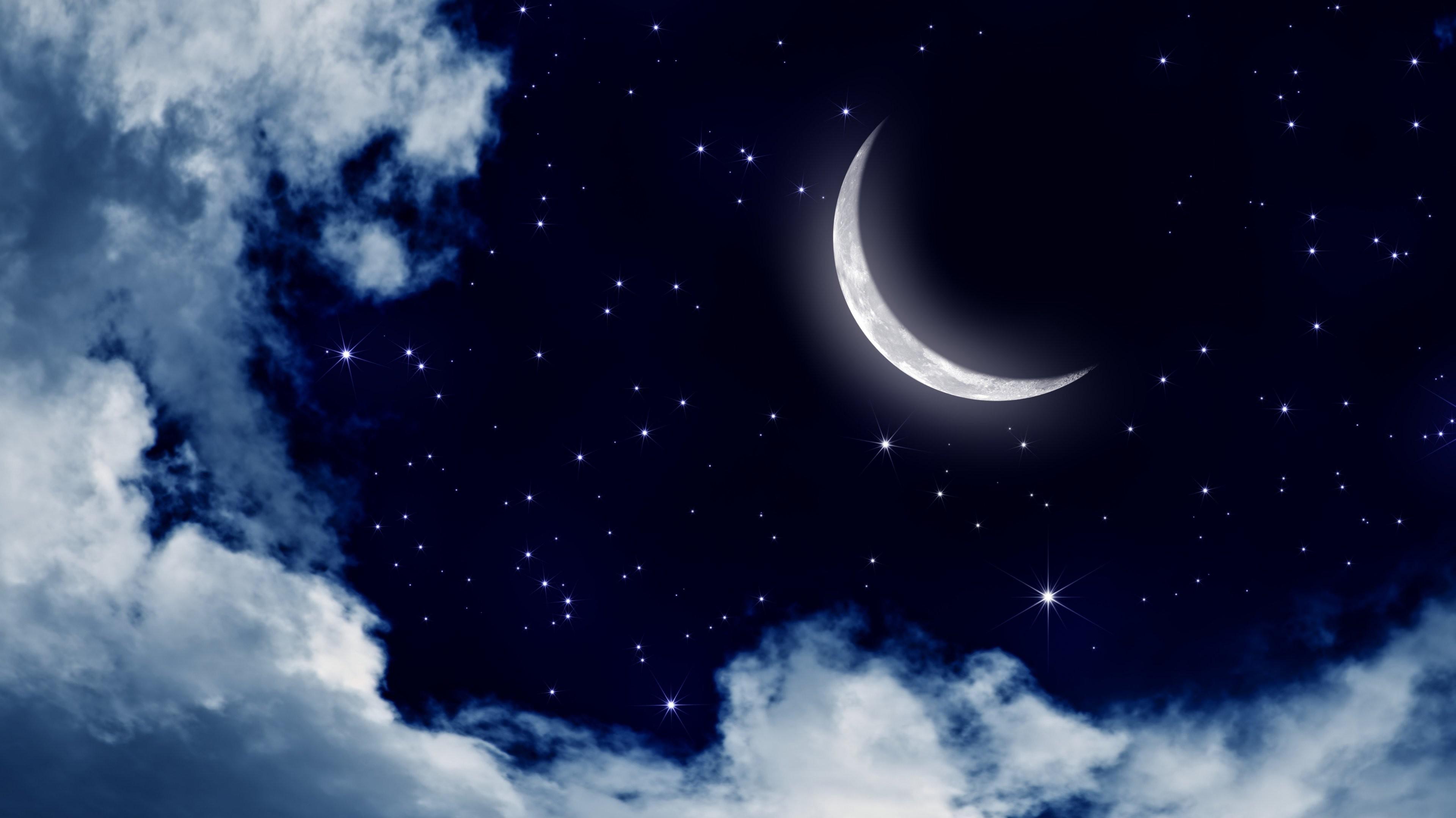 Night Sky Moon Background