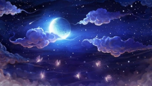 Night Sky Moon Computer Wallpaper